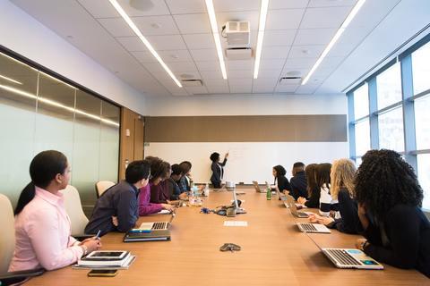 seminar in a board room